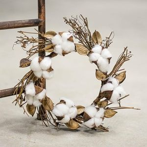 Cotton and Twig 12″ Small Wreath / Candle Ring